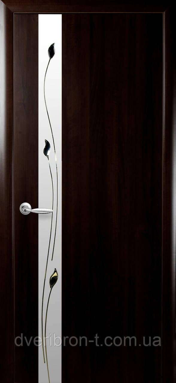 Двери Новый Стиль Злата + Р1 венге, коллекция ПВХ Квадра P