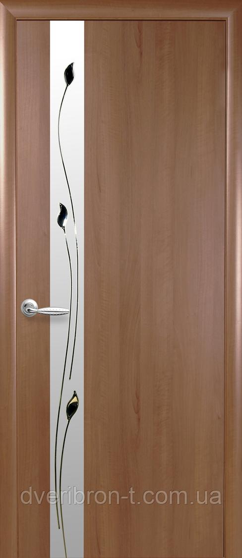 Двери Новый Стиль Злата + Р1 золотая ольха, коллекция ПВХ Квадра P