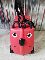 Детский пластиковый чемодан с сидением для ребенка, фото 1