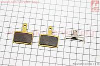 Тормозные колодки диск. тормоз к-кт (Shimano BR-M416,575,525,515,485,486,445,446), на медной основе (65%), YL-1001