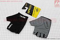Перчатки без пальцев S-черные, с гелевыми вставками под ладонь SBG-1457