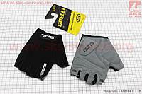 Перчатки без пальцев L-черные, с гелевыми вставками под ладонь SBG-1457