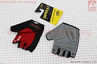 Перчатки без пальцев L-черно-красные, с гелевыми вставками под ладонь SBG-1457