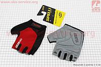 Перчатки без пальцев XL-черно-красные, с гелевыми вставками под ладонь SBG-1457