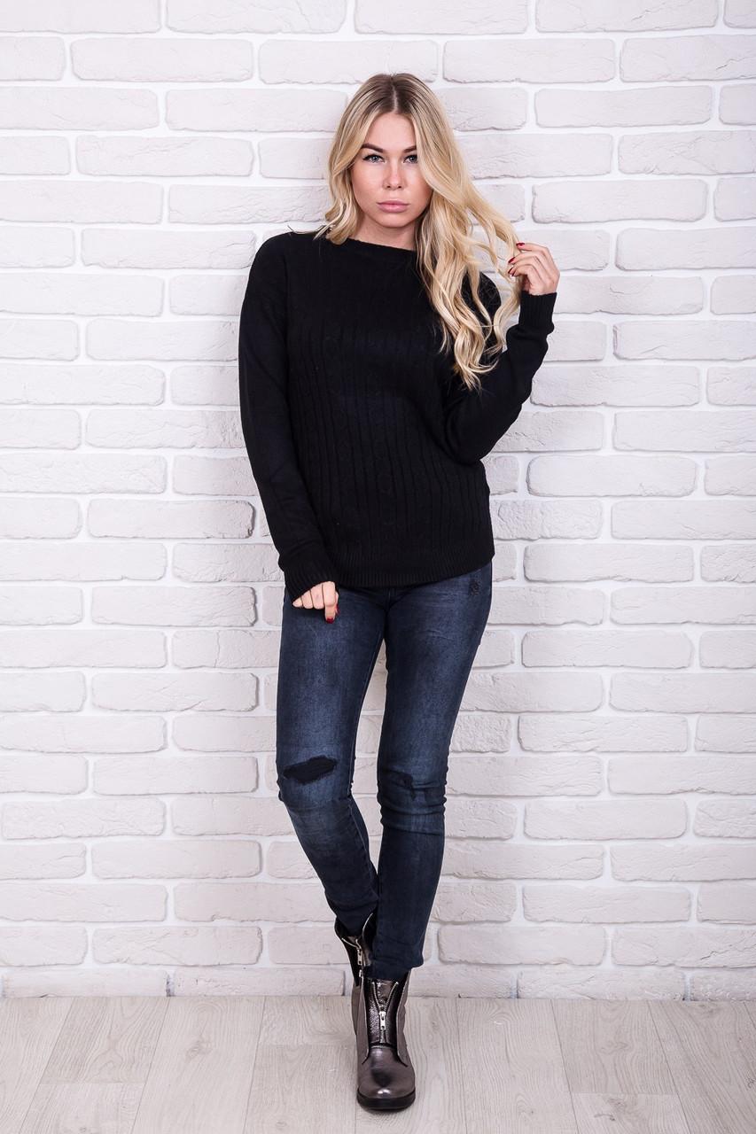 Классическая теплая кофта Sweet Lady - черный цвет, L/XL (есть размеры)