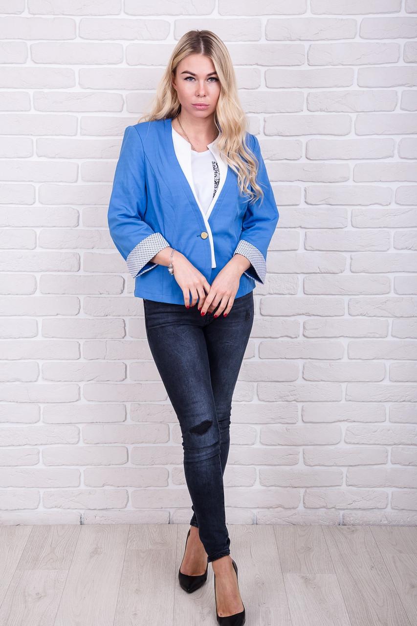 Пиджак с рукавом 3/4 RUBIN - голубой цвет, L (есть размеры)