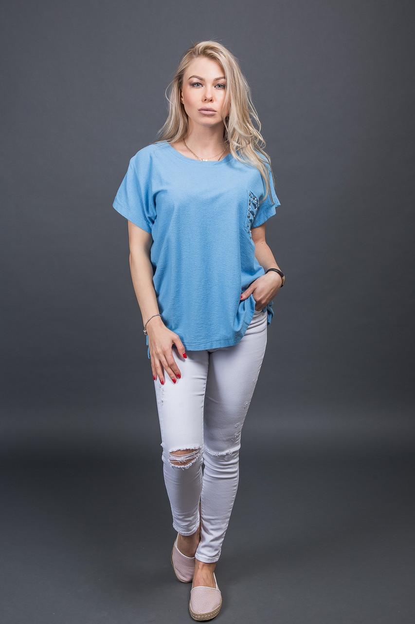 Футболка LUREX - синий цвет, S (есть размеры)