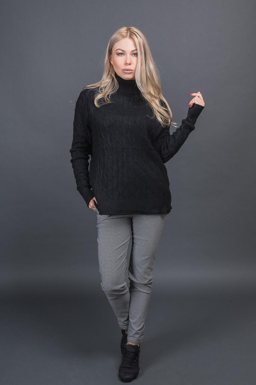 Теплая кофта с воротником Moni Eco - черный цвет, L/XL (есть размеры)
