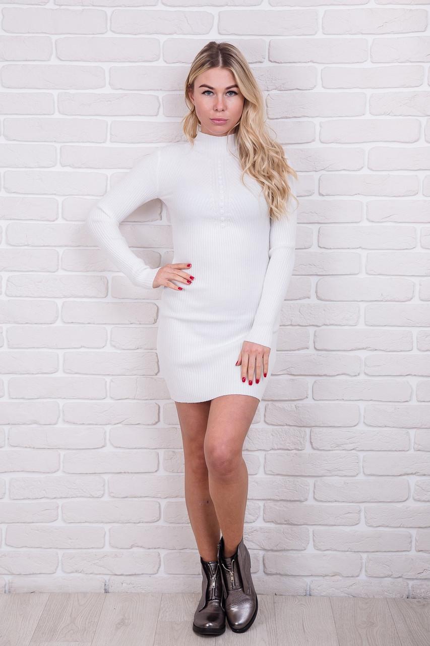 Соблазнительное приталенное платье M.B.21 - белый цвет, S/M (есть размеры)