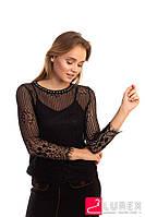 Блуза из французского кружева Zeza Fashion - черный цвет, M/L (есть размеры), фото 1