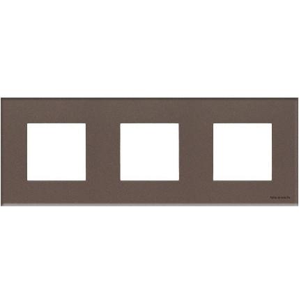 Рамка 3 постова кавове скло N2273 СС, ZENIT