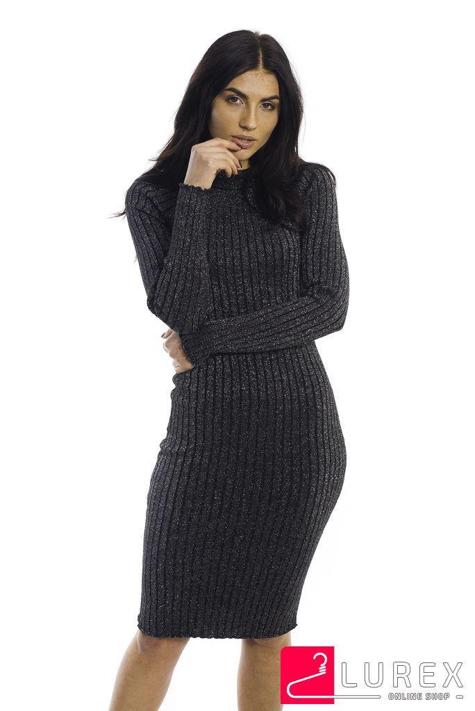 5b78b4c734f5327 Длинное платье с нитями люрекса LUREX - черный цвет, M (есть размеры ...