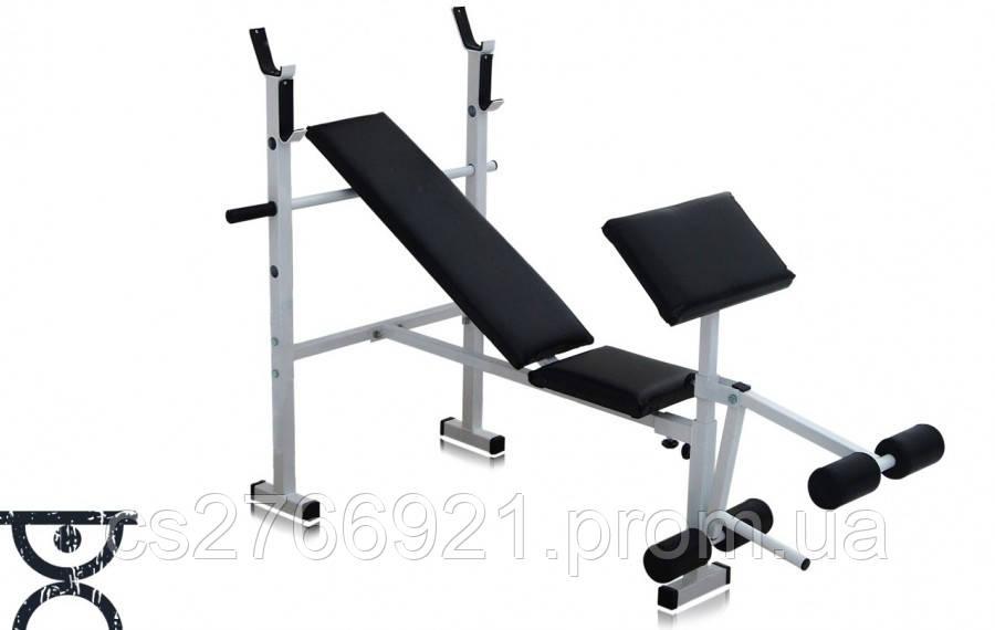 Скамья для жима RN Sport  универсальная + Штанга 72 кг