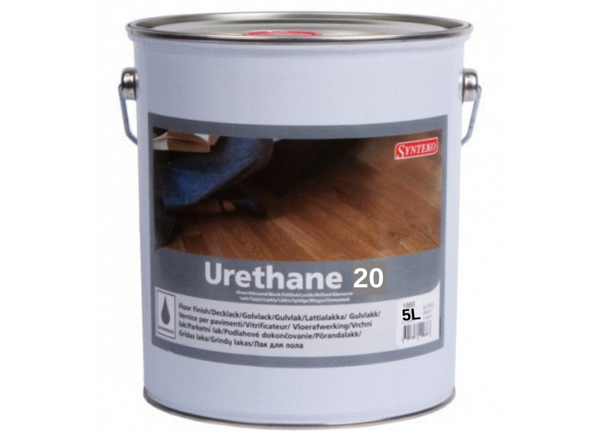 Алкідно-уретановий лак для паркету Synteko Urethane 20 матовий 5л