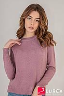 Реглан с тоненькими косичками по рукаву LUREX - розовый цвет, L (есть размеры), фото 1