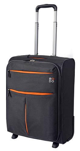 Тканевый практичный дорожный чемодан 2-х колесный 39 л. Roncato Modo Air 5303/22 антрацит(серый)