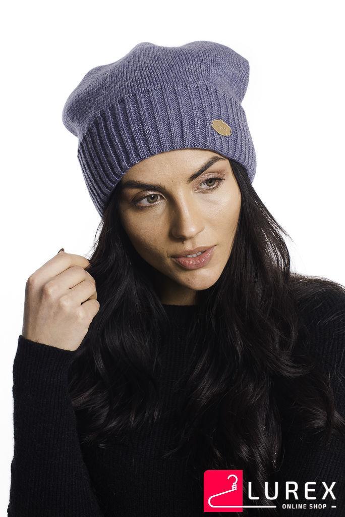 Классическая шапка на флисе Prada LUREX - джинс цвет, ONE SIZE (есть размеры)