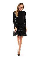 Платье с россыпью жемчужин на юбочке LUREX - черный цвет, XS (есть размеры), фото 1