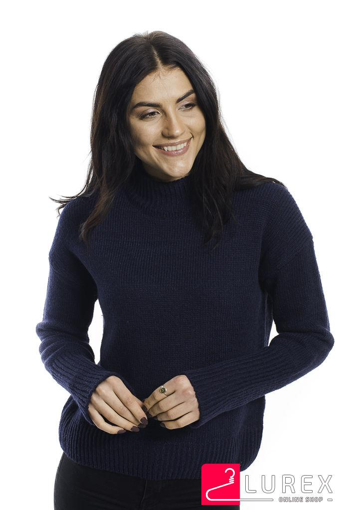 Теплая кофта с широкими манжетами LUREX - синий цвет, L (есть размеры)