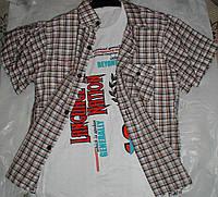 Рубашка с футболкой от 9 до 12 лет коричневая