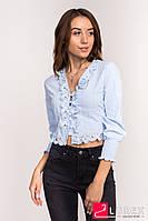 Блузка-болеро LUREX - голубой цвет, S (есть размеры), фото 1