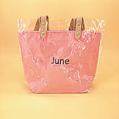 Силіконова сумка середнього розміру рожева