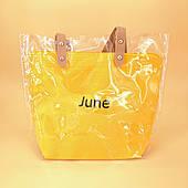 Силіконова сумка середнього розміру жовта