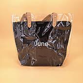Силіконова сумка середнього розміру чорна