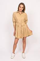 Платье рубашка с кольцом на поясе Yingzi - кофейный цвет, L (есть размеры), фото 1