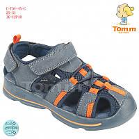 Летние открытые кроссовки, босоножки, Сандалии закрытый носок для мальчиков Том.М. размер 26-30