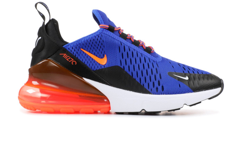 f5e843e5 Кроссовки мужские Nike Air Max 270 Blue/Black/Orange (Реплика ААА класса)