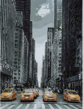Картина по номерам Такси Нью-Йорка, 40x50 см., Brushme