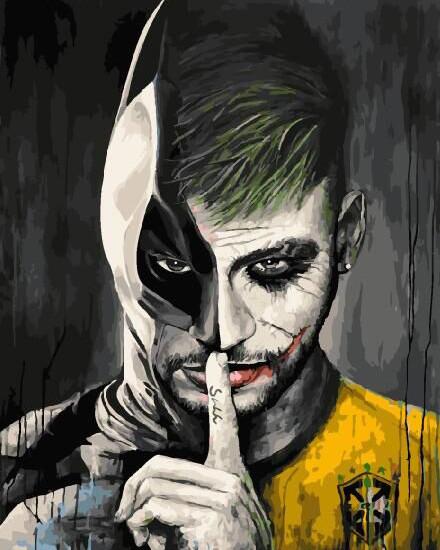 Картина по номерам Неймар в обличии Бэтмена, 40x50 см., Brushme