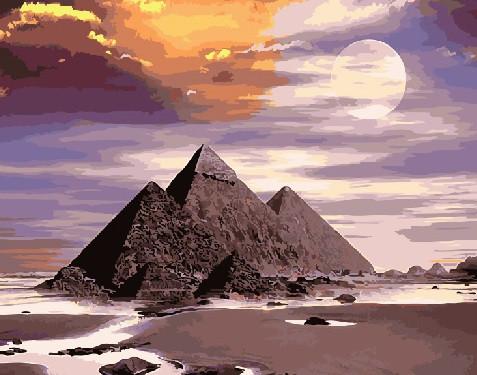 Картина по номерам Пирамиды Гизы, 40x50 см., Brushme