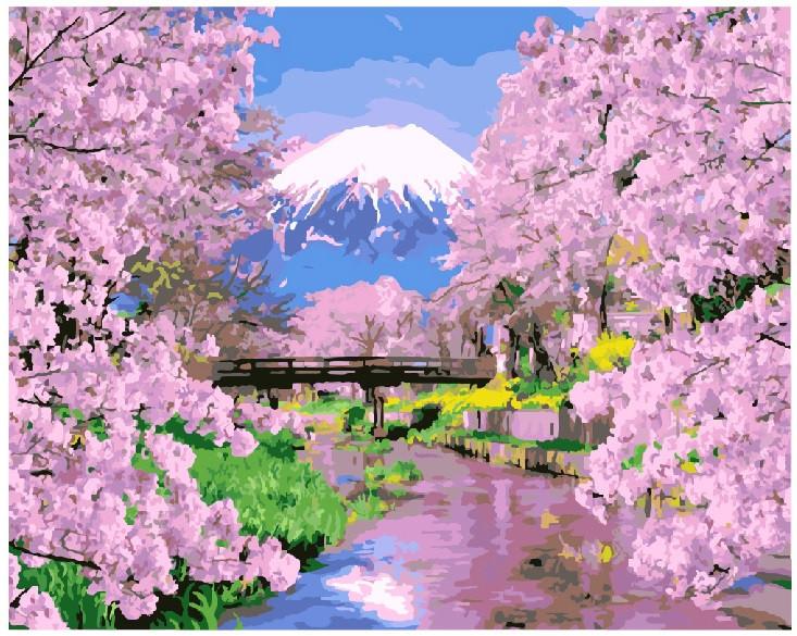 Картина по номерам Весна в Японии, 40x50 см., Brushme