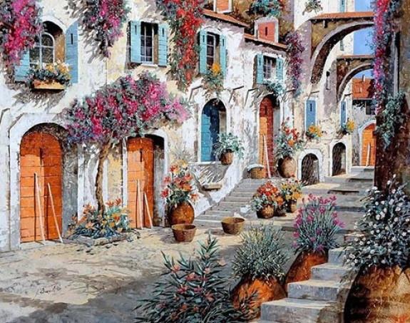 Картина по номерам Очаровательная улица, 40x50 см., Brushme