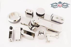Комплект фурнитуры для прямой раздвижной системы на трубу 30#10 мм, фото 2