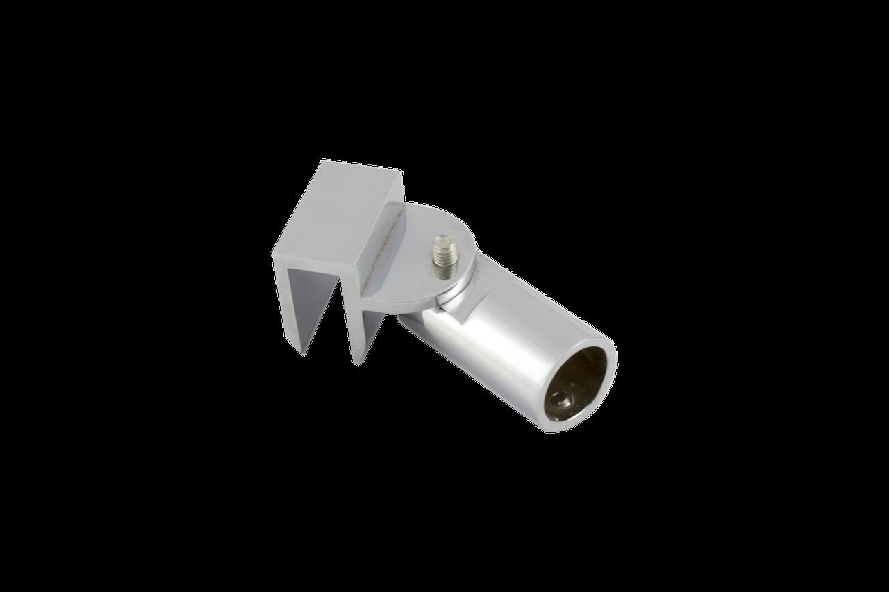 Соединитель стекло-труба Ø19 мм. хром