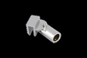 Соединитель стекло-труба Ø19 мм. хром, фото 2