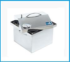 Коптильня для горячего копчения 300х300х250 с термометром (нержавейка)