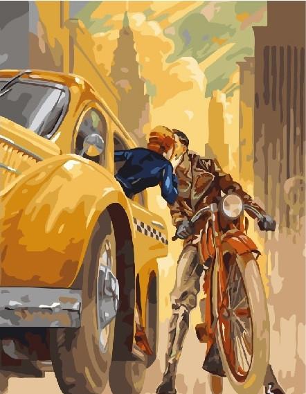 Картина по номерам Поцелуй в Нью-йорке, 40x50 см., Brushme