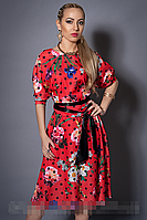 Платье мод 471-3 размер 46,48,50 красное (А.Н.Г.)