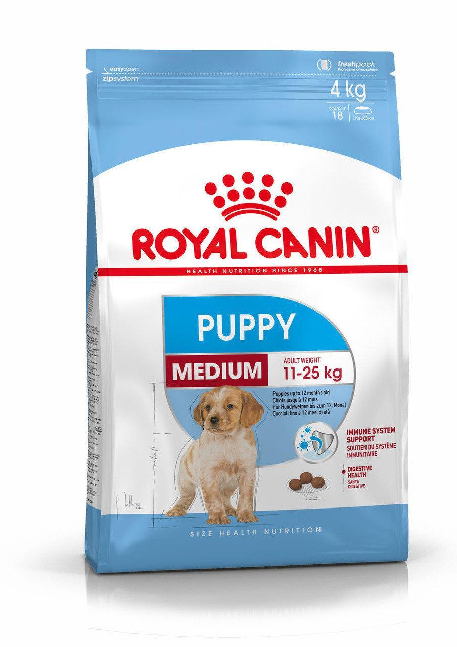 Royal Canin Medium Puppy 15кг для щенков средних размеров в возрасте до 12 месяцев