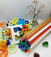 Палочки для шариков разноцветные с насадкой 30 см