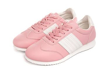 Кросівки жіночі Casual classic pink-white 37, фото 2