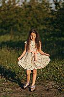 Легкое летнее платье для девочки жёлтого цвета
