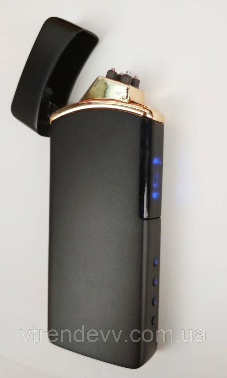 Зажигалка сенсорная двойной дуги Lighter S400 Black