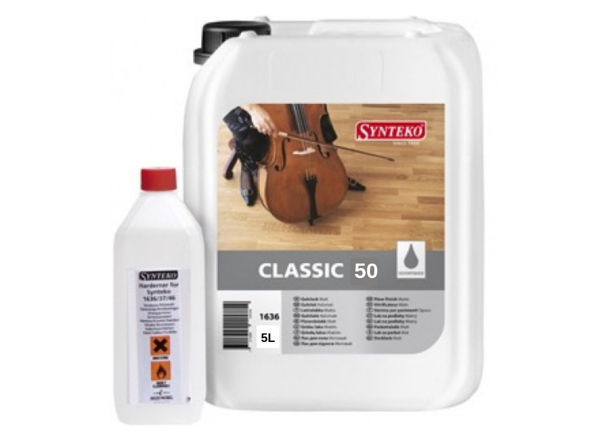 Двухкомпонентный лак для паркета Synteko Classic 50 полуглянцевый 5.5 л