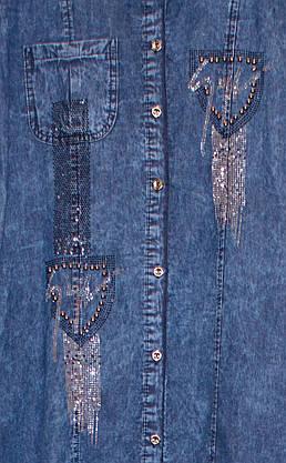 Платье джинсовое на пуговицах (5XL), фото 2