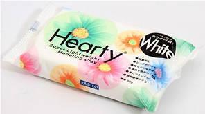 Пластика холодный фарфор Padico Hearty Херти (Япония)самозатвердевающая для цветов,декора,белая. 200 г